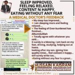 Sleep improved, Feeling Relaxed, Content n happy, Eating without any Fear – A doctor's Feedback after one month treatment