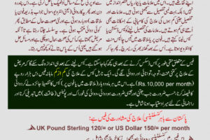 The process, Procedure and Fee Structure of Hussain Kaisrani ONLINE Homeopathic Treatment