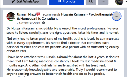 Usman Niazi Reviews about Hussain Kaisrani and His services